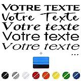Wraplab Sticker Texte personnalisé   Lettrage, vitrine, publicitaire, Bateau, vélo, Ordinateur, Voiture, Porte, Mur ou boîte aux Lettres   Autocollant sur Mesure