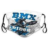 Washable Reusable Masks BMX Rider Urban Team Freestyle Bike Trial Geomet Travel Cover