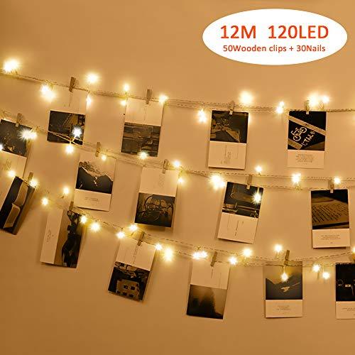 12M 120LED Luci per Foto Polaroid, Tomshine lucine led decorative per camere,Luci Tumblr Camera (con...
