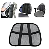 Cool Vent Cushion Mesh Back Lumber Support New Car Office Chair Truck Seat Black