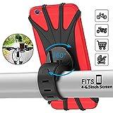 PEYOU Support Téléphone Vélo,Support téléphone Moto de Guidon Rotatif Réglable en Silicone à 360°avec Système A-Vibrations pour 4-6.5'' Smartphones,Moto Poussette et Golf Trolley freinage Adaptateurs