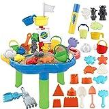 deAO Table d'activité d'extérieur bac à Eau et à Sable pour Votre Enfant incluant Une variété d'Accessoires Assortis