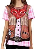 Funny World Women's Cowgirl Costume T-Shirts (XXL, Western)