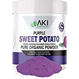 Aki Organic Purple Sweet Potato Powder Food Coloring for Smoothies, Baking with Phytonutrients Antioxidants Vitamin, Neutral Flavor, Sugar Free, Plant Food Starch Color, Gluten Free Flour