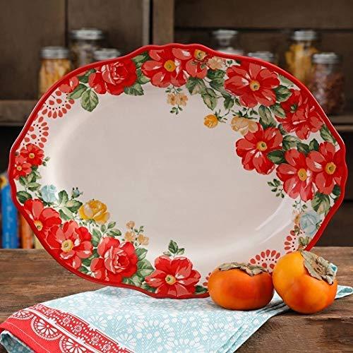 The Pioneer Woman Vintage Floral 14.5' Serving Platter (1 platter)