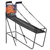 HOMCOM Jeu de Basket Pliable Jeu de Basketball Arcade Compteur électronique 2 Ballons