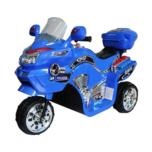 Ride on Toy, 3 Wheel Motorcycle for Kids, Battery Powered Ride On Toy by Lil' Rider  Ride on Toys for Boys and Girls, 2 - 5 Year Old - Blue FX