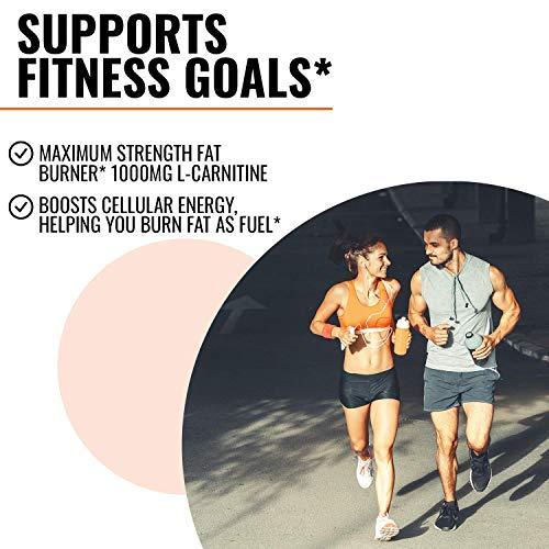 Nobi Nutrition L-Carnitine Fat Burner - Healthier Weight Loss for Women & Men - Diet Pills, Appetite Suppressant, Carb Blocker, Metabolism & Thermogenesis Booster 4