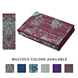 Gaiam Yoga Mat Folding Travel Fitness & Exercise Mat | Foldable Yoga Mat for All Types of Yoga, Pilates & Floor Workouts, Be Free, 2mm