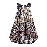 BFRMLY Bohemian Dresses for Girls Short Front Long Back Kids Jumper Boho Dress Tribal Ethnic Size 7-8