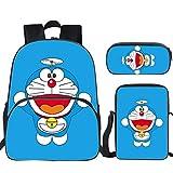 WHYDIANPUJunior Mochila para niños 3D Doraemon Doraemon bolsa de mensajero de guardería, alumnos 123456 grado Junior High School Bag, color 7. 40X16X30CM