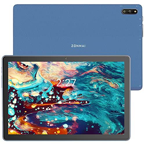Tablet 10.1 Pollici con 5G WiFi, ZONMAI Tablet Android 10.0 Quad core 1.6GHz 4GB RAM+64GB ROM, 128GB Espandibili, Doppia Fotocamera/8000mAh/Bluetooth 5.0/GPS/Type-C/OTG