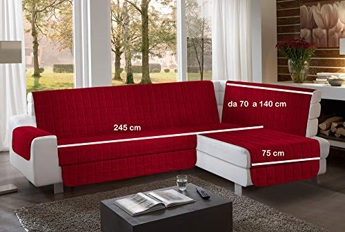 la biancheria di casa Simplicity Plus Angle Copri Salva Divano per divani ad Angolo (245 cm, bord)