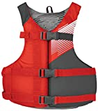 Stohlquist Youth Fit Life Jacket/Personal Floatation Device, 75-125 lbs, Red/Gray