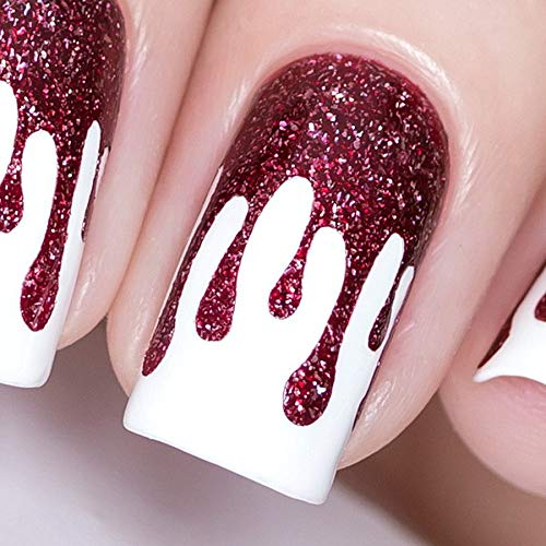 Whats Up Nails - Slime Drips Vinyl Stencils for Halloween Nail Art Design (1 Sheet, 30 Stencils)