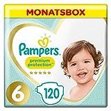 Pampers Premium Protection Windeln, Gr. 6, 13kg-18kg, Monatsbox (1 x 120 Windeln)