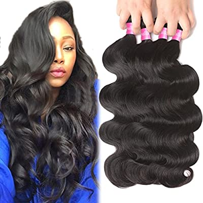 B-FASHION 100% Unprocessed Brazilian Human Hair Weave Bundles Brazilian Body Wave Hair 10A Grade black friday human hair sale Hair Quality: Top 10A grade, which can be Straightened, Curled, Bleached and Styled as your own hair Hair Color: Natural Bla...