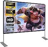 Pantalla de proyector con soporte100 Inch 16: 9 HD FáCil InstalacióN Y OperacióN Adecuado para...