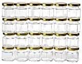 Gojars Hexagon Glass Jars 4oz Premium Food-grade. Mini Jars With Lids...