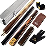 CUESOUL 57 Handcraft 3/4 Jointed Snooker Cue with Mini Butt End Extension Packed in Aluminium Cue Case (D305)