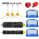 MTKD Kit brosse pour iRobot Roomba série 600 - Kit de 10 pièces accessoires (Brosses Latérale, filtres, brosse de Cerda et etc..) pour aspirateur robot.