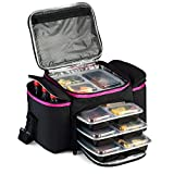 Large Cooler Bag insulated By Outdoorwares (PINK BLACK)