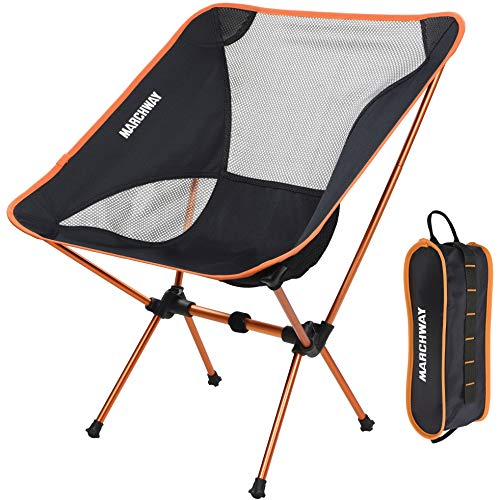 MARCHWAY Ultralight Folding Camping Chair, Portable Compact for...