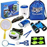 Joyjoz Adventure Kit, Outdoor Explorer Kit for Kids with Compass, Binoculars, Flashlight, Magnifying Glass, Backpack, Toys for Boys Girls Camping Hiking