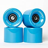 FREEDARE Skateboard Wheels 60mm 83a with Bearings and Spacers Cruiser Wheels (Blue,Pack of 4)