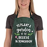 Saukore Funny Garden Aprons for Women Men Waterproof Kitchen Aprons with Pocket for Cooking Baking...
