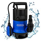 SumpMarine Automatic 1/2 HP Submersible Utility Pump, Clean Water Sump Pump, w/ 25' Cord, Float Switch - Moves Up-To 2,000 Gallon Per Hour from Flooded Areas, Pool, Hot Tub, Rain Barrel, Pond