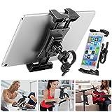 Bike Tablet Holder, Portable Bicycle Car Phone Tablet Mount for Indoor Gym Treadmill, Microphone Stands, Microphone Tablet Holder, Exercise Bike for iPad, iPad Pro2020,iPad Mini,2, 3,iPad Air,iPhone