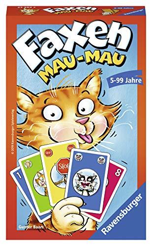 Ravensburger Mitbringspiele 23462 - Faxen Mau-Mau, Kartenspiel ab 5 Jahren
