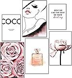 artpin® Moderno juego de pósteres COCO - Cuadros decorativos para salón,...