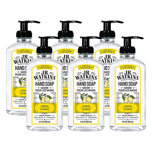JR Watkins Gel Hand Soap, Lemon, 6 Pack, Scented Liquid Hand Wash...