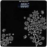 Emmelyn Electronic Thick Tempered Glass LCD Display Digital Personal Bathroom Health Body Weight Weighing Scales For Body Weight, Digital Weighing Machine(Flower Design Bathroom Scale)