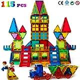 Magblock 115 PCS Magnetic Blocks, Magnetic Tiles Building Blocks for Kids Toys丨Magnet Toys Set 3D Building Blocks for Toddler Boys and Girls