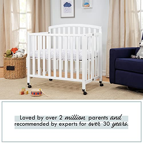 Product Image 4: DaVinci Dylan Folding Portable 3-in-1 Mini Crib and Twin Bed in White, Greenguard Gold Certified