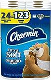 Charmin Ultra Soft Cushiony Touch Toilet Paper, 24 Family Mega Rolls = 123 Regular Rolls