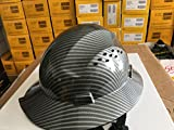 TRUECREST HDPE Hydro Dipped Black Full Brim Hard Hat with Fas-trac Suspension