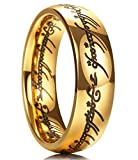 King Will Magic 7mm Titanium Ring Gold Plated Rings Comfort Fit Wedding Band for Men Women 9.5