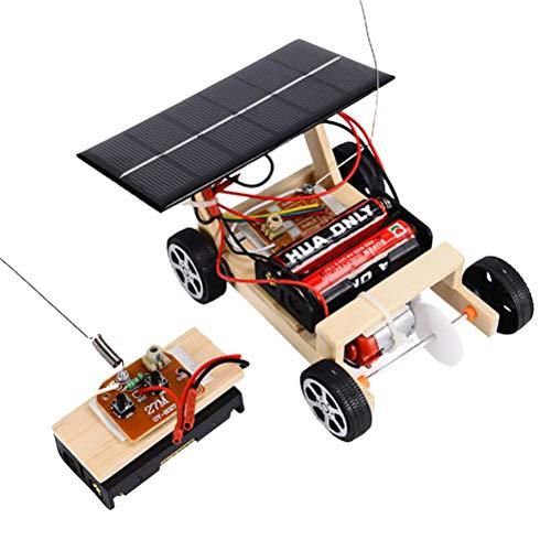 YeahiBaby Hölzerne DIY solarbetriebene RC Auto Puzzle Montage Wissenschaft Fahrzeug Spielzeug Set für Kinder