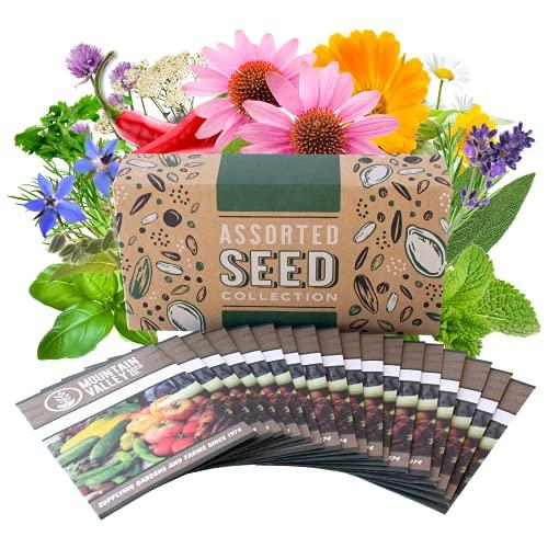 Medicinal & Herbal Tea Garden Seed Collection - Premium...