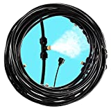 Biggun 49.2 Feet Misting Cooling System- Outdoor Misting Hose with 21pcs Mist Nozzles Detachable Outside Patio Misters Hose for Outside Garden Pool Waterpark Greenhouse Patio Garden Trampoline