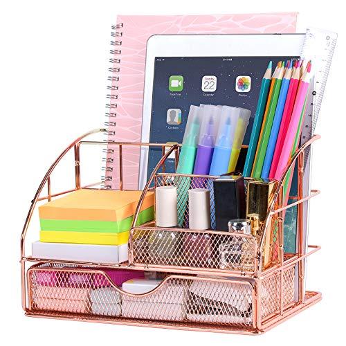 Upgraded Desk Organizer for Women, Cute Mesh Office Supplies...