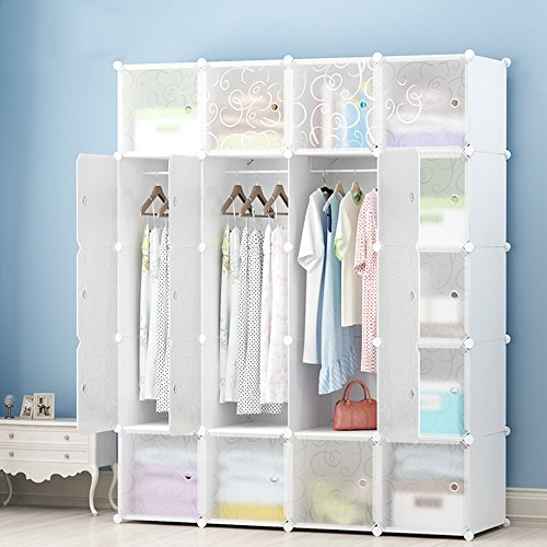 JOISCOPE Portable Wardrobe for Hanging Clothes, Combination...