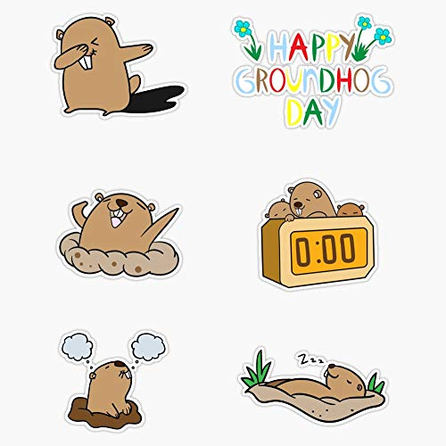 TCT Trading Groundhog Day Sticker Pack #1 Vinyl Stickers Waterproof Decal Car, Laptop, Bumper Stickers 5