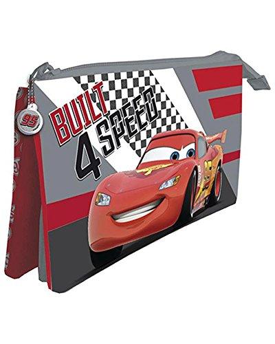 Disney - Astuccio a 3 Scomparti 12 x 22 CMS. Cars, ast5475, multicolore