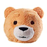 Plush Teddy Bear Head Mask Halloween Teddy Bear Mascot Costume Yellow