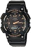 Casio Men's 'Tough Solar' Quartz Stainless Steel and Resin Watch, Color:Black (Model: AQ-S810W-1A3VCF)